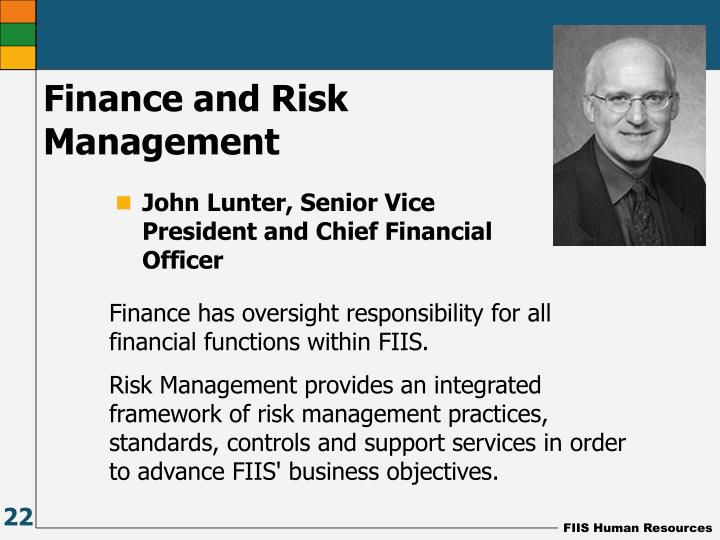 Finance and Risk