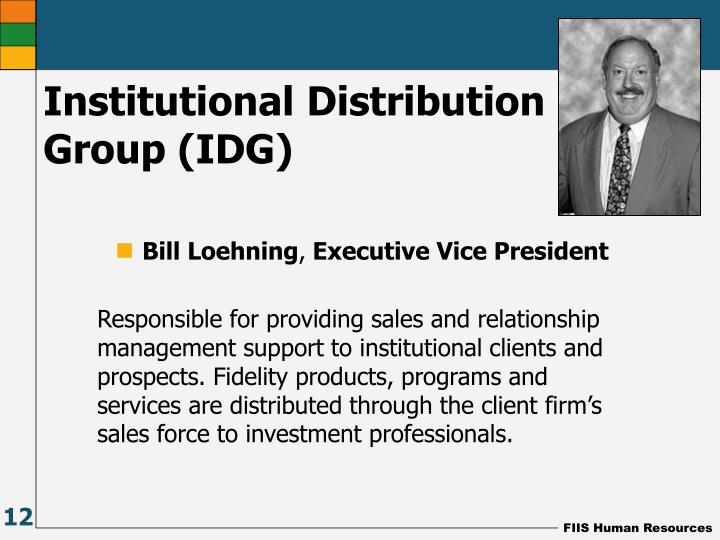 Institutional Distribution