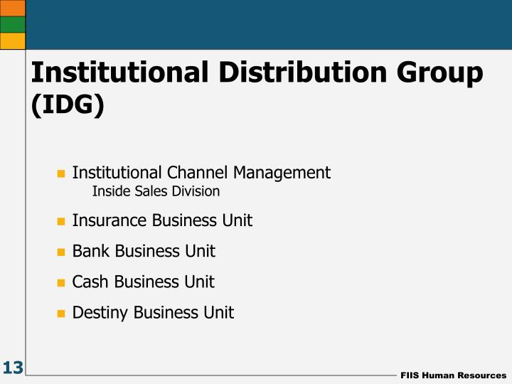 Institutional Channel Management