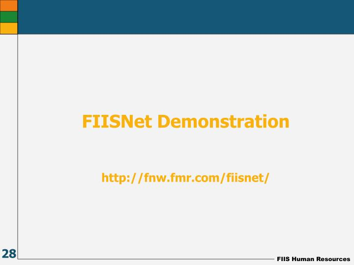 FIISNet Demonstration