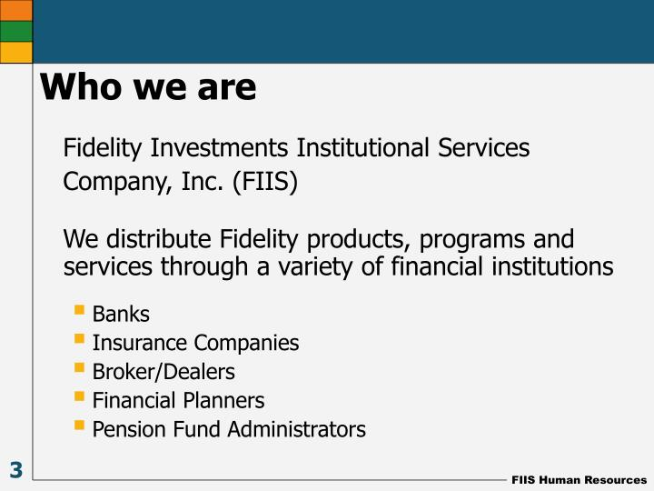 Fidelity Investments Institutional Services