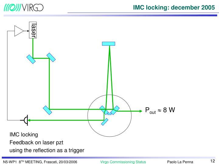 IMC locking: december 2005