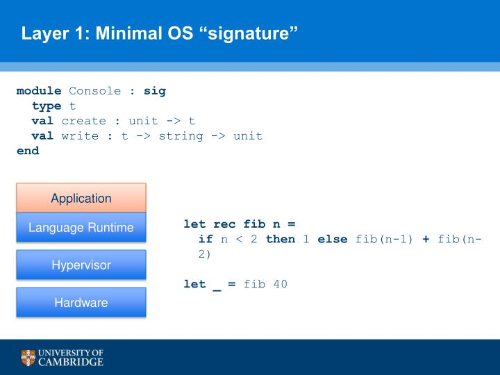 "Layer 1: Minimal OS ""signature"""