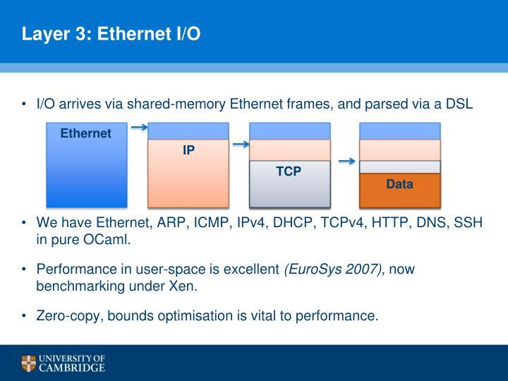 Layer 3: Ethernet I/O
