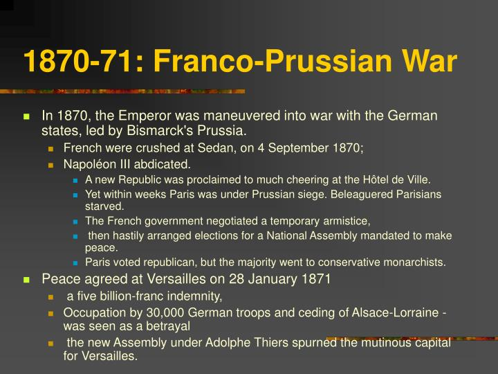 1870-71: Franco-Prussian War