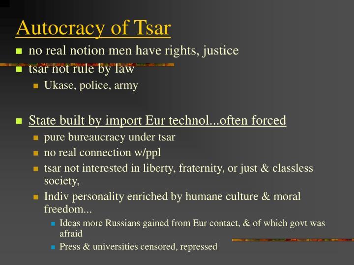 Autocracy of Tsar