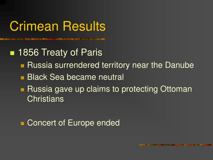 Crimean Results