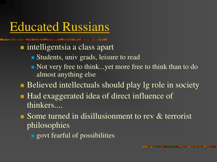 Educated Russians