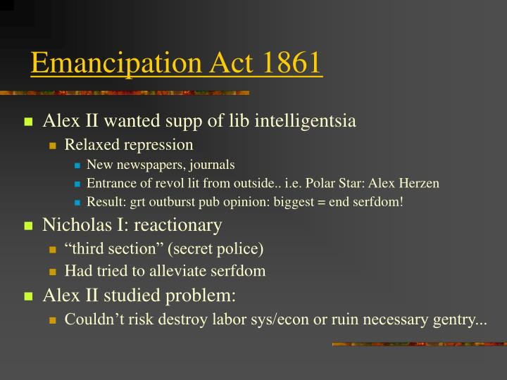 Emancipation Act 1861