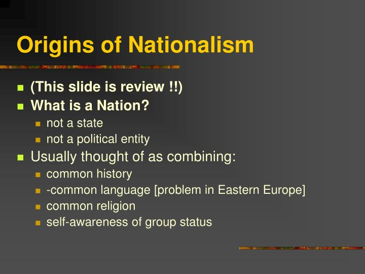 Origins of nationalism