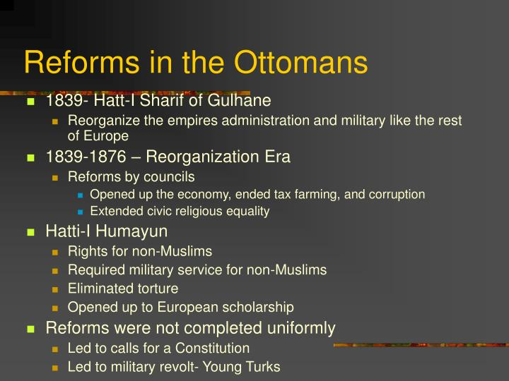 Reforms in the Ottomans
