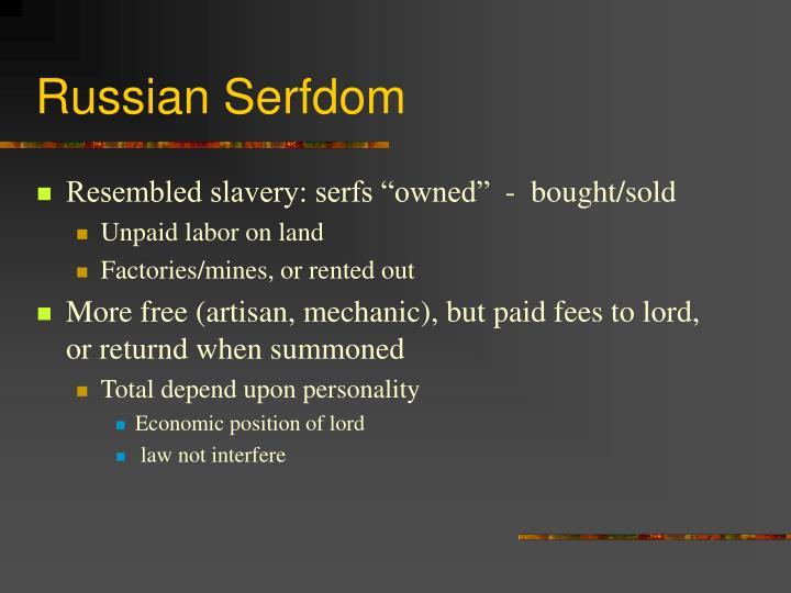 Russian Serfdom