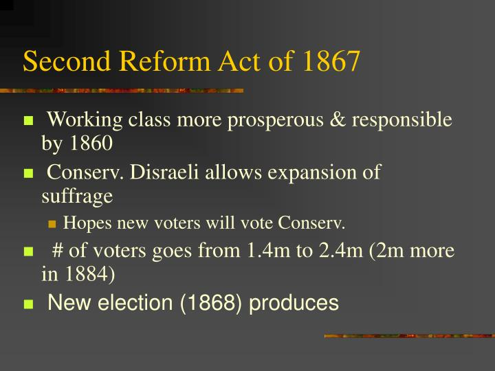 Second Reform Act of 1867