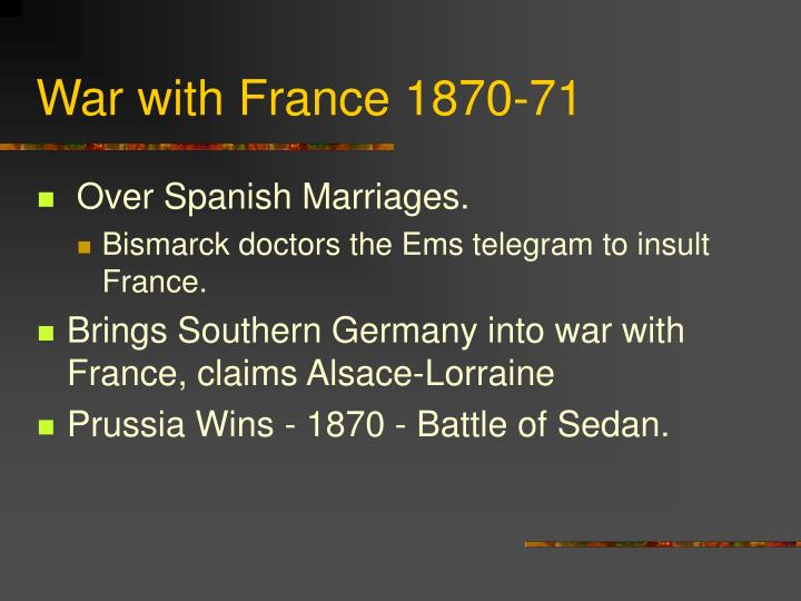 War with France 1870-71