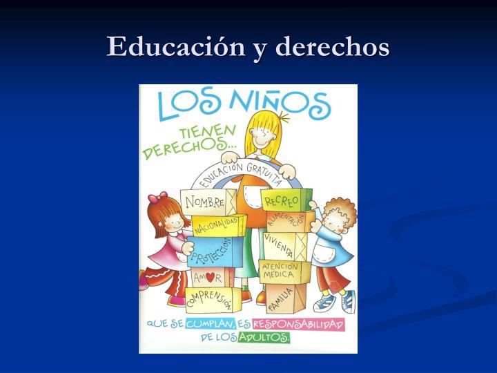 Educación y derechos