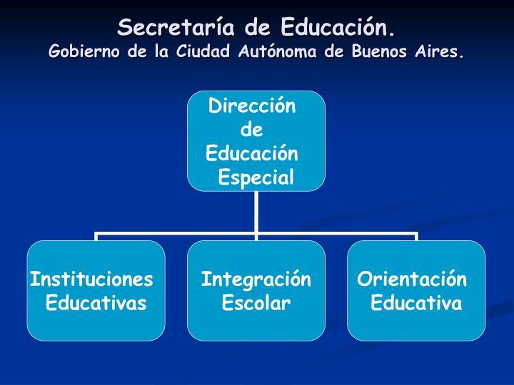 Secretaría de Educación.