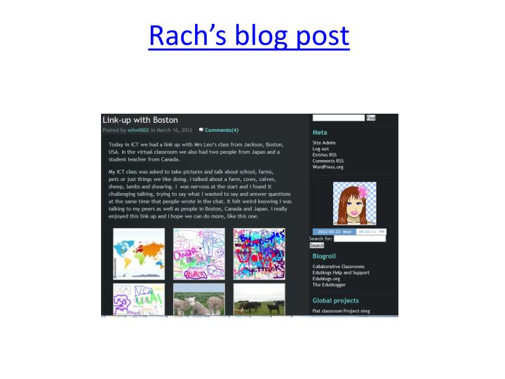 Rach's blog post