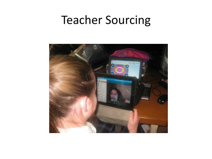 Teacher Sourcing