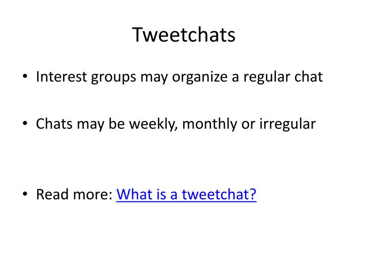 Tweetchats