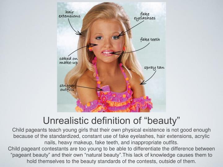 "Unrealistic definition of ""beauty"""