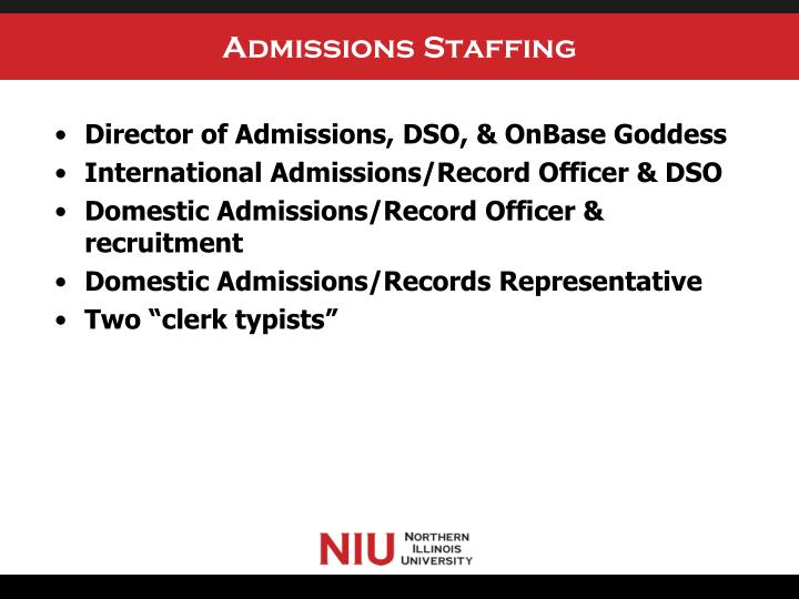 Admissions staffing