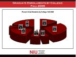 graduate enrollments by college fall 2009