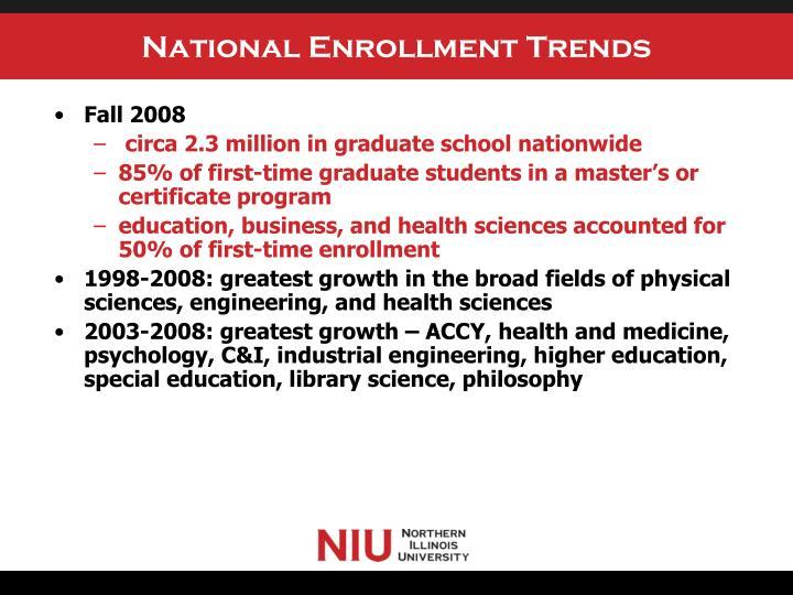 National Enrollment Trends