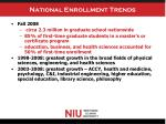 national enrollment trends