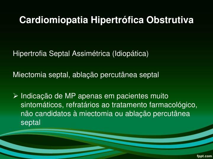 Cardiomiopatia Hipertrófica Obstrutiva