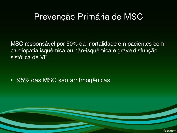 Prevenção Primária de MSC
