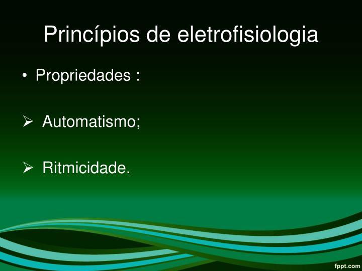 Princípios de eletrofisiologia