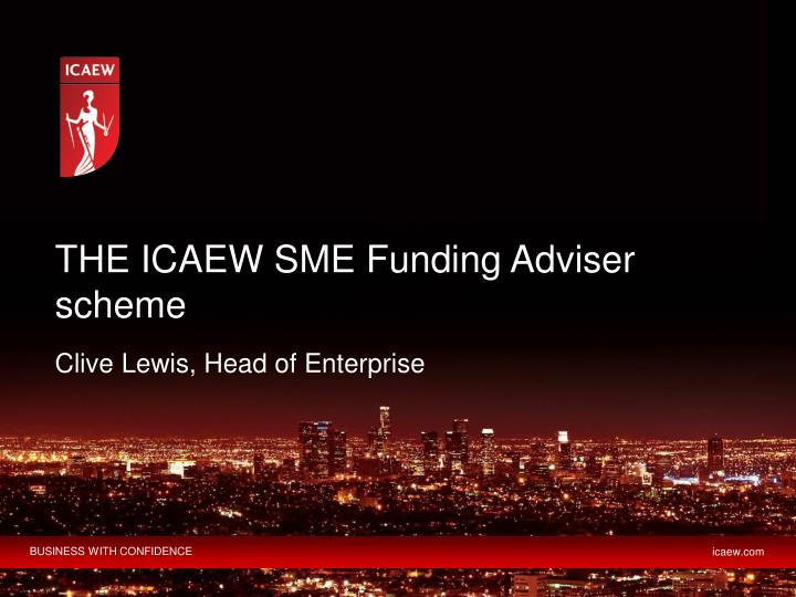 the icaew sme funding adviser scheme