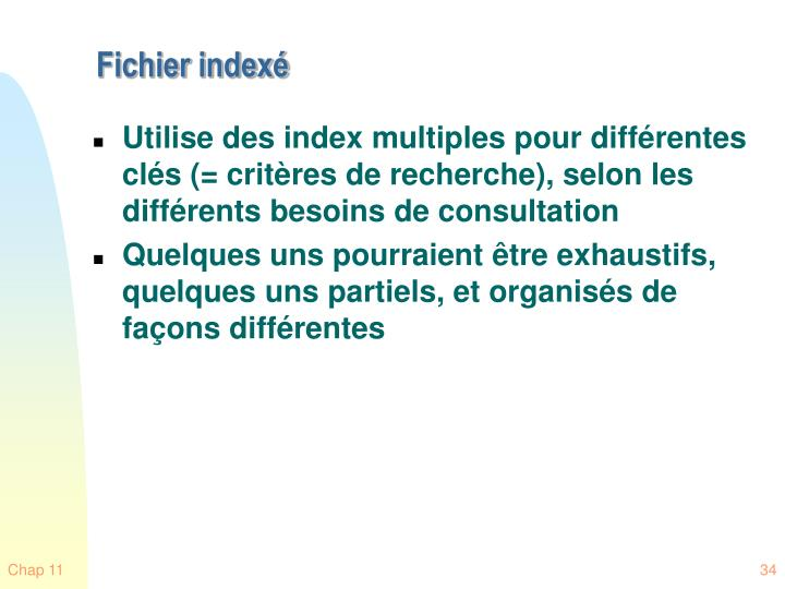 Fichier indexé