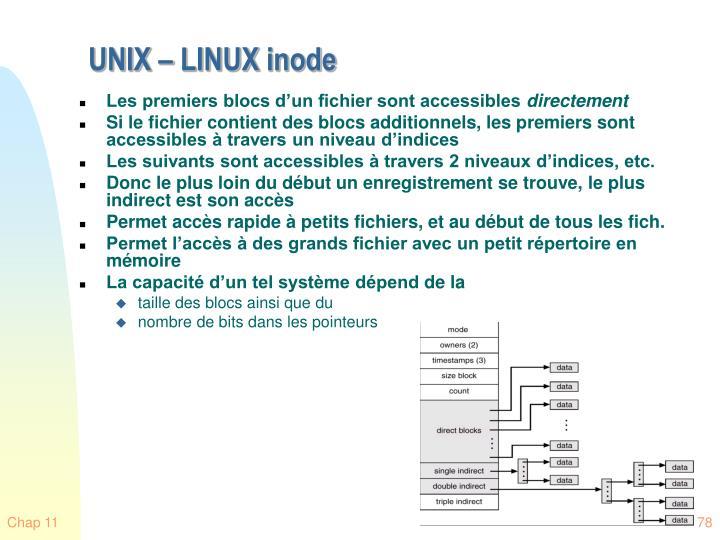 UNIX – LINUX