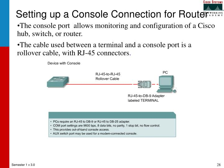 Setting up a Console Connection for Router