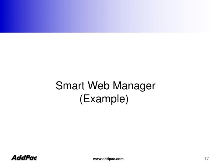 Smart Web Manager