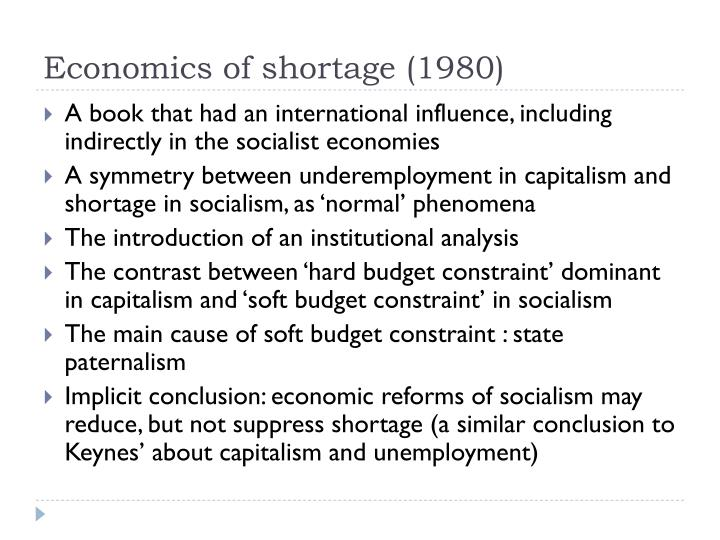 Economics of shortage (1980)