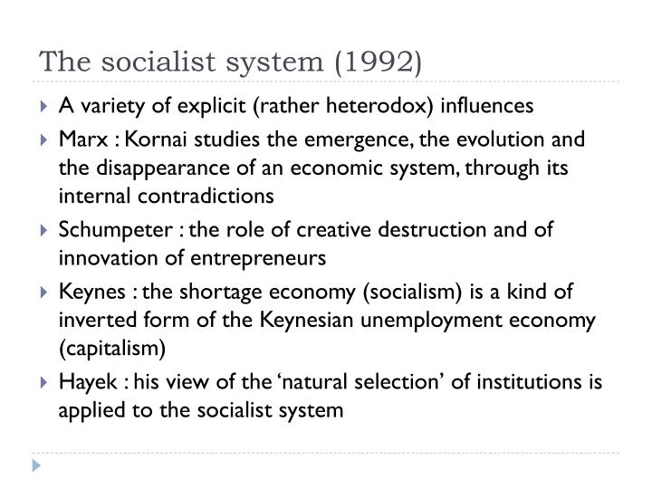 The socialist system (1992)