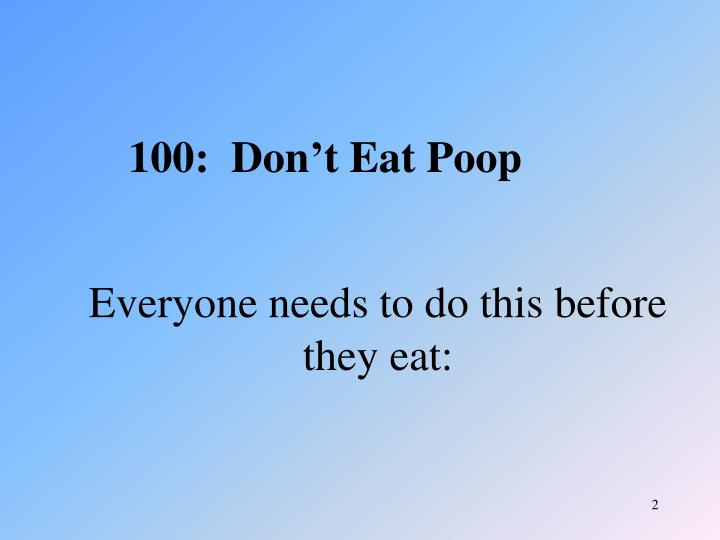Everyone needs to do this before they eat: