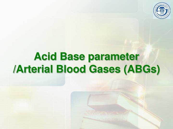 Acid Base parameter