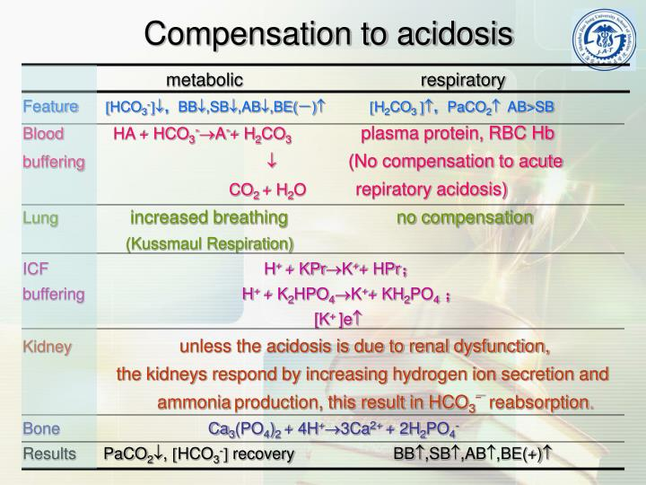metabolic                                    respiratory
