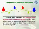 definition of acid base disorders