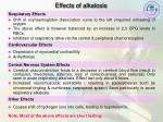 effects of alkalosis