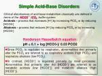 simple acid base disorders
