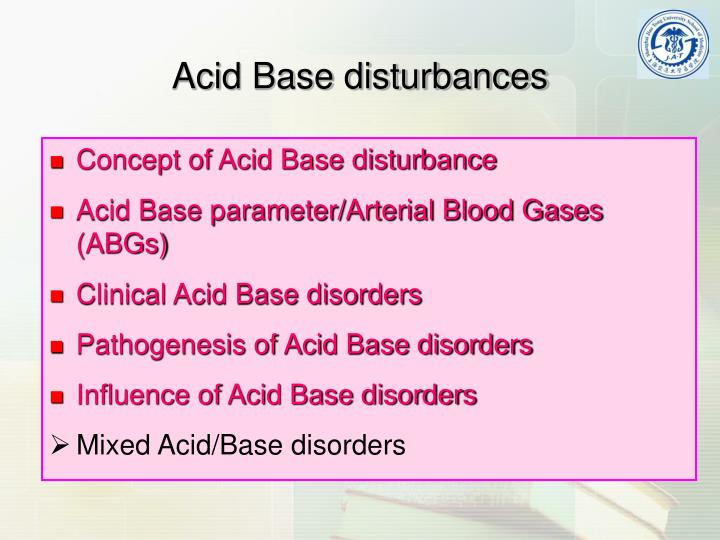 Concept of Acid Base disturbance