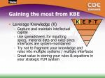 gaining the most from kbe2