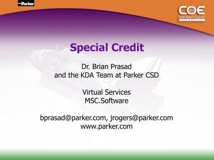 Special Credit