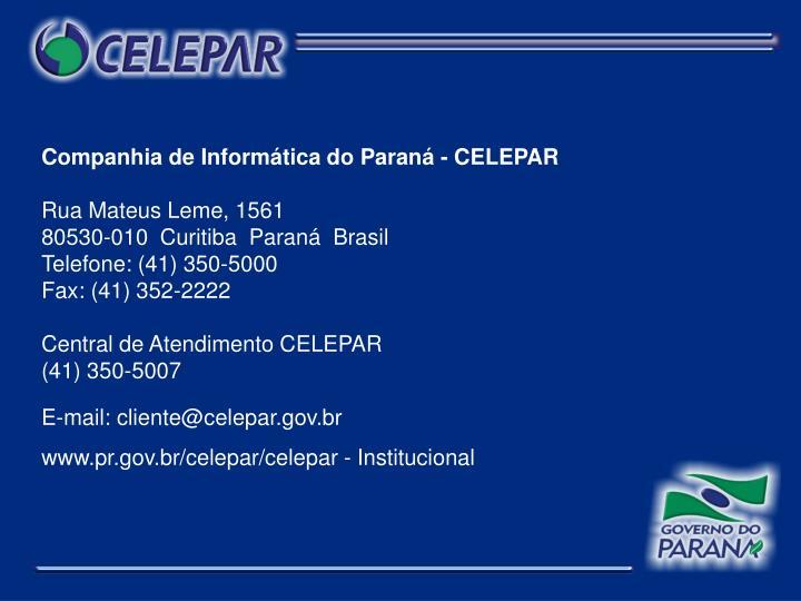 Companhia de Informática do Paraná - CELEPAR