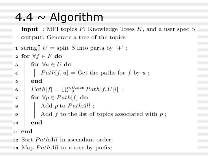 4.4 ~ Algorithm
