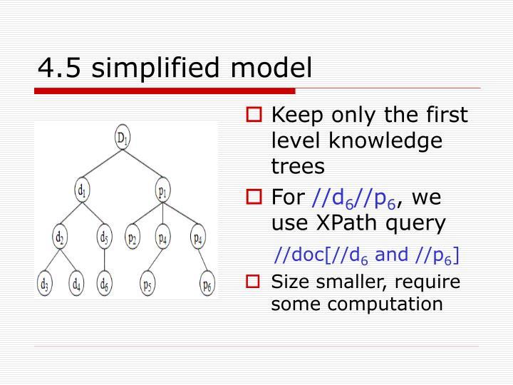 4.5 simplified model